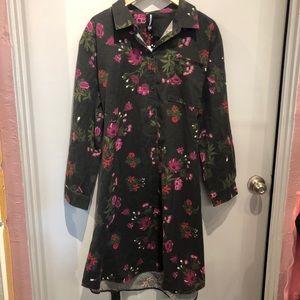 NWT Agnes & Dora Black Floral Dress